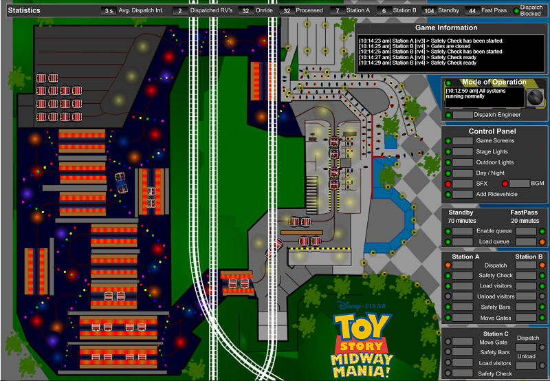 Toystory Midway Mania HTML5 Simulation